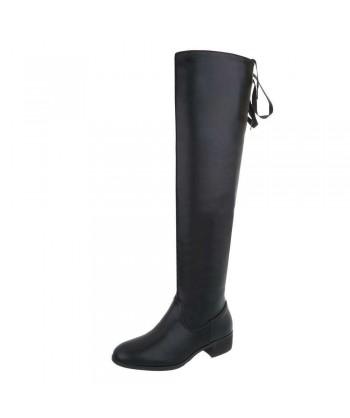 Škornji nad koleni z modnimi vezalkami - RAZPRODANO