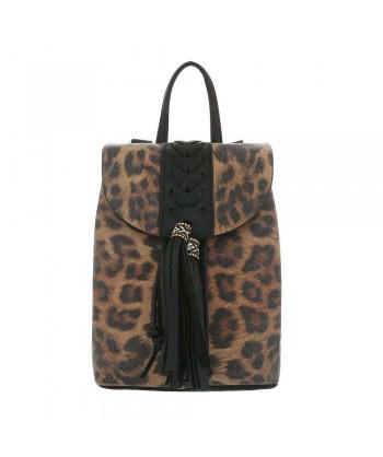 Modni nahrbtnik v leopardjem vzorcu