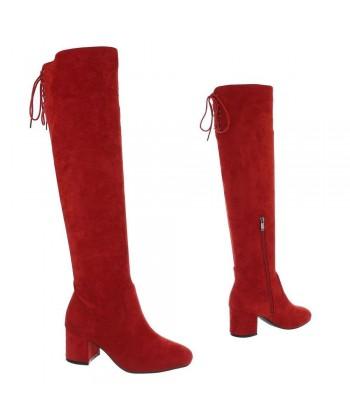Visoki škornji nad koleni 'RED DIVINE' - ZADNJI PAR V ŠT.38