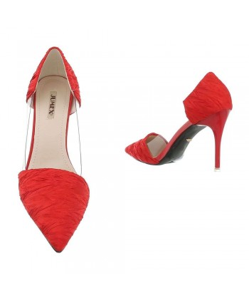 Salonarji rdeči z modnim vzorcem