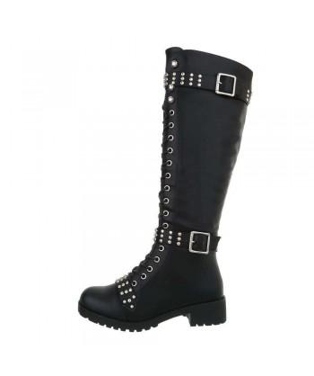 Visoki škornji z neti in modnimi dodatki 'Rock star'
