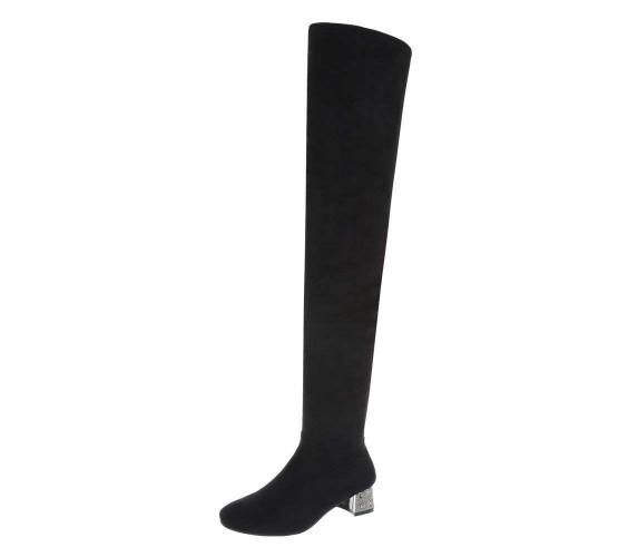 Ekstra visoki škornji nad koleni s kovinsko petko