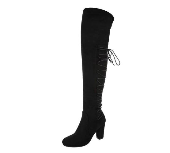 Škornji nad koleni z vezalkami - ZADNJI PAR V ŠT.40